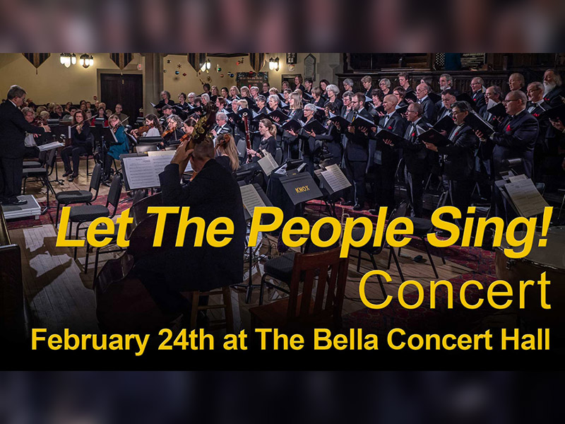 A promotional image for the Let the People Sing! Concert