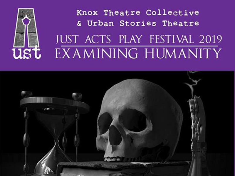 The poster for 2019's Just Acts Play Festival