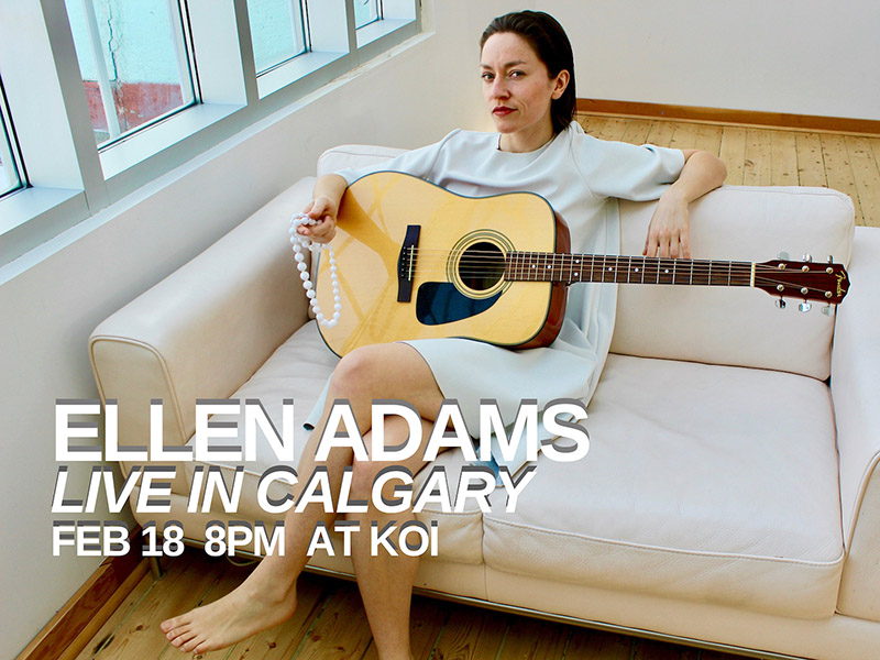 A promotional image for Ellen Adams live in Calgary