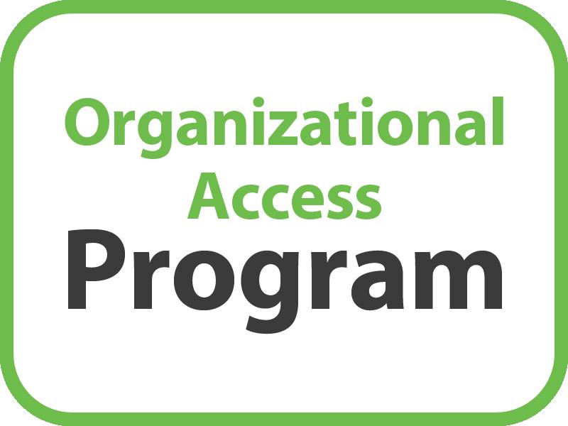 Organizational Access Program Button