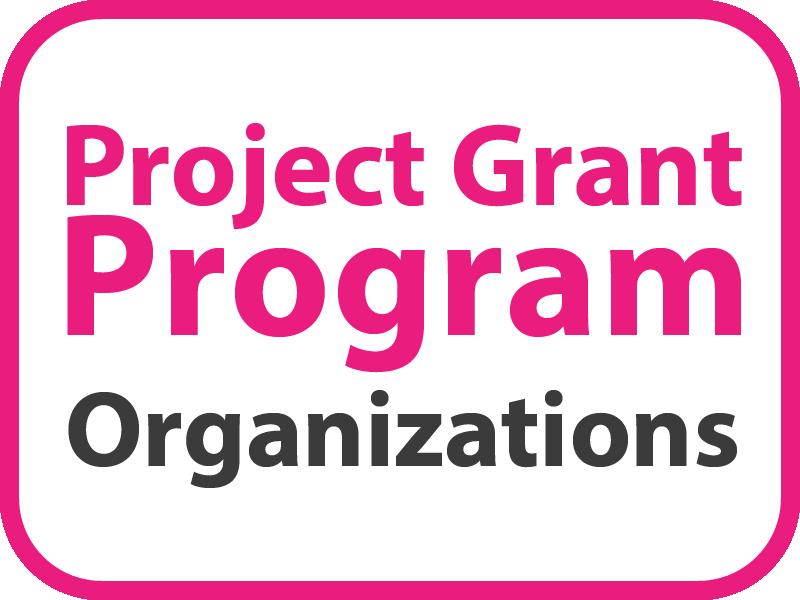 Project Grant Program – Organizations Button