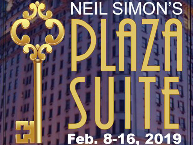 A poster for Simply Theatre's Plaza Suite