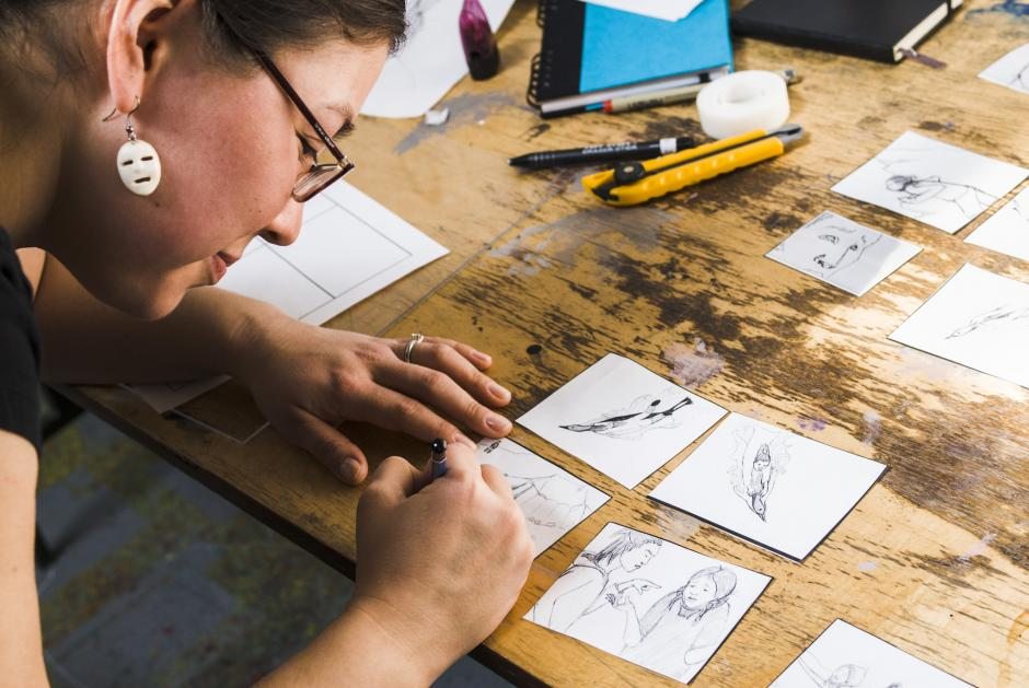 Animating Our Stories | Indigenous Writing and Digital Illustration photo of artist participant