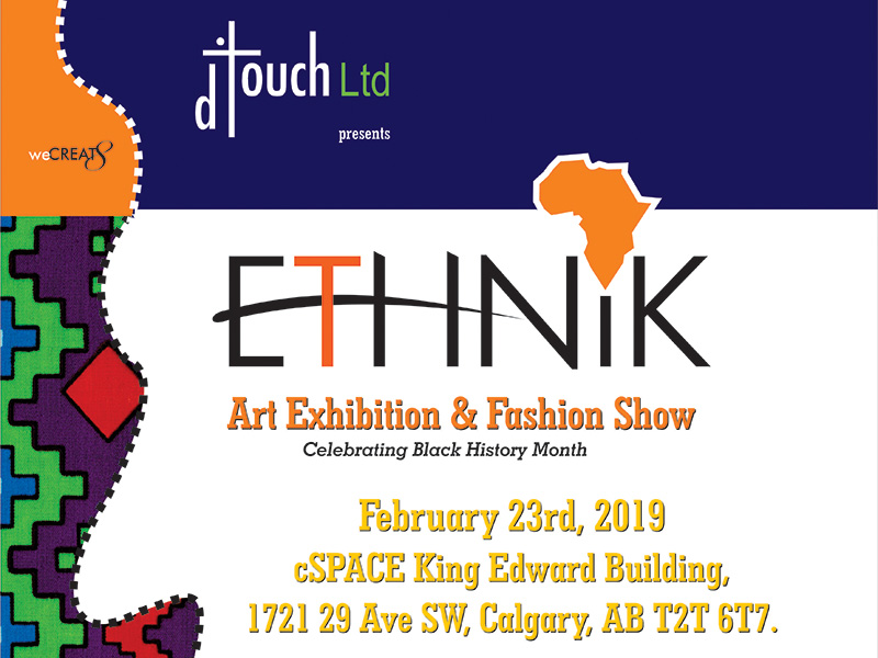 A poster for Ethnik Art Exhibition & Fashion Show