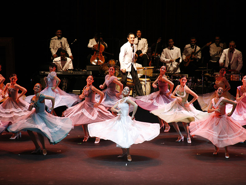 Members of Lizt Alfonso Dance perform on stage