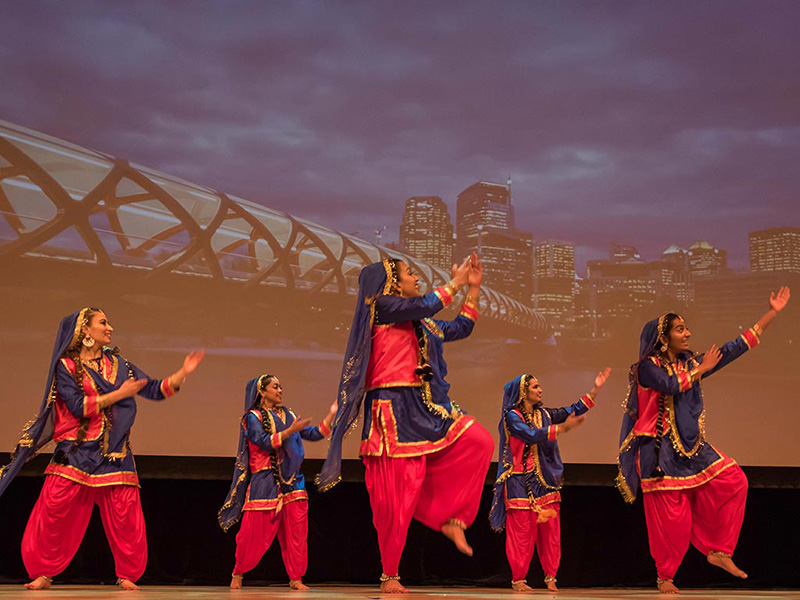 Kala Bhavan of Calgary on stage in Our Canada, Our Story