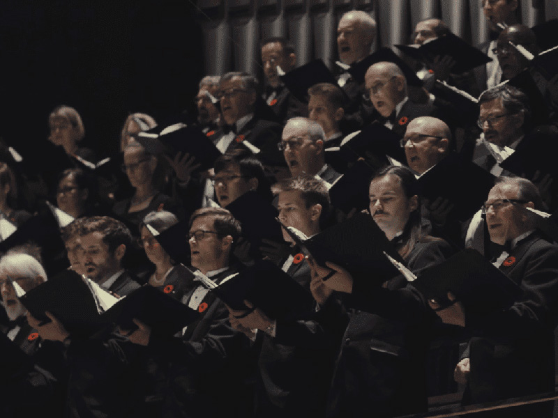 Members of the Calgary Philharmonic Chorus performing