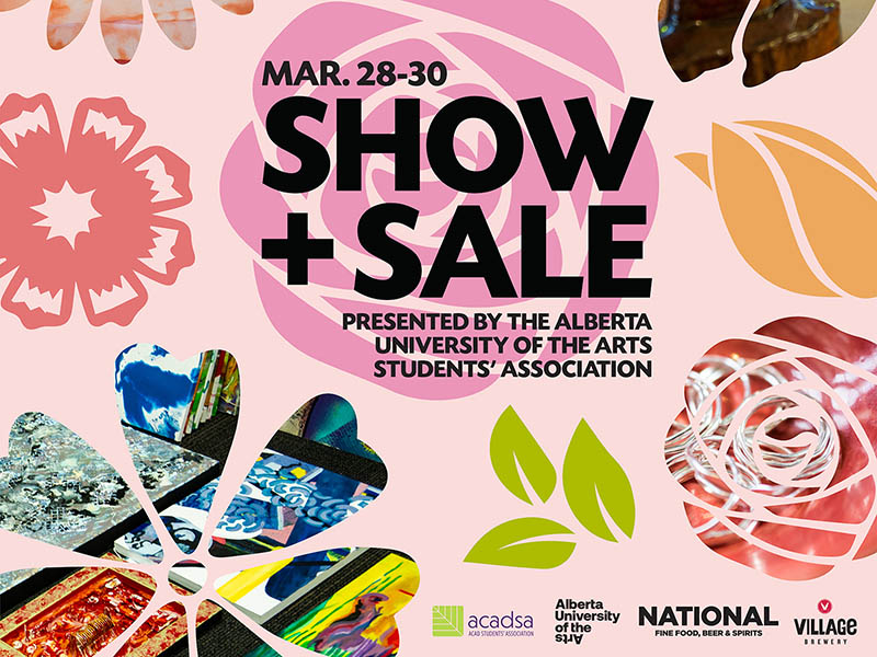 A poster for AUArts SA Spring Show + Sale