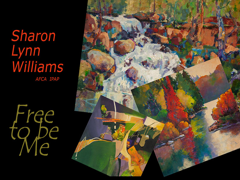 An invite card for Sharon Lynn Williams' show at Framed on Fifth Gallery