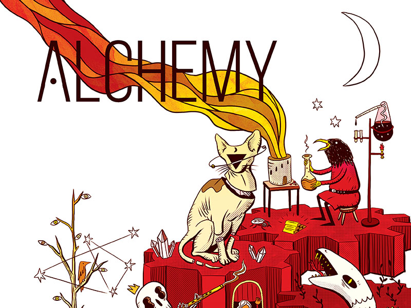A poster for Alchemy: Festival of Student Work at the University of Calgary