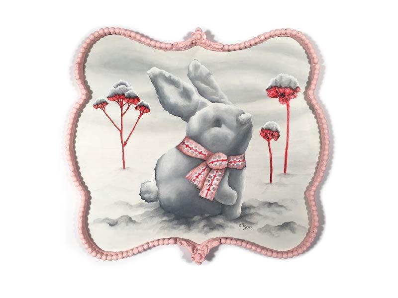 Alison Frank snow bunny artwork