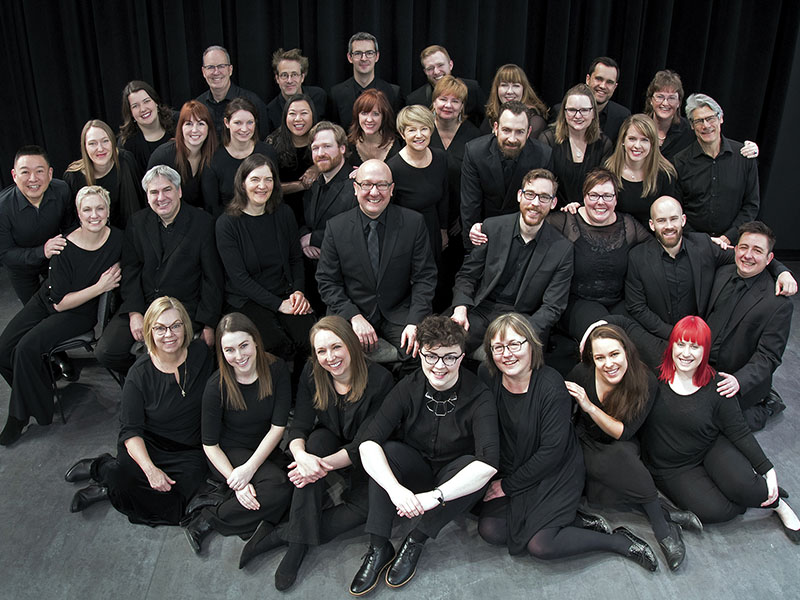 A photo of Spiritus Chamber Choir members