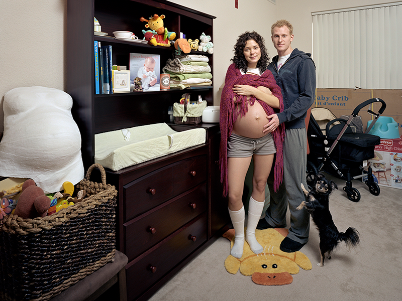 A photo of an expecting family by Dona Schwartz