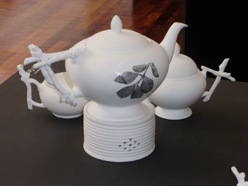 make do and mend tea set by Evelyn Grant