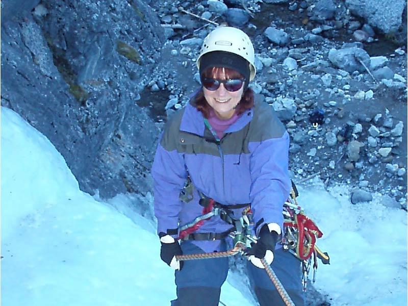 A photo of Gisèle Villeneuve outside in winter gear