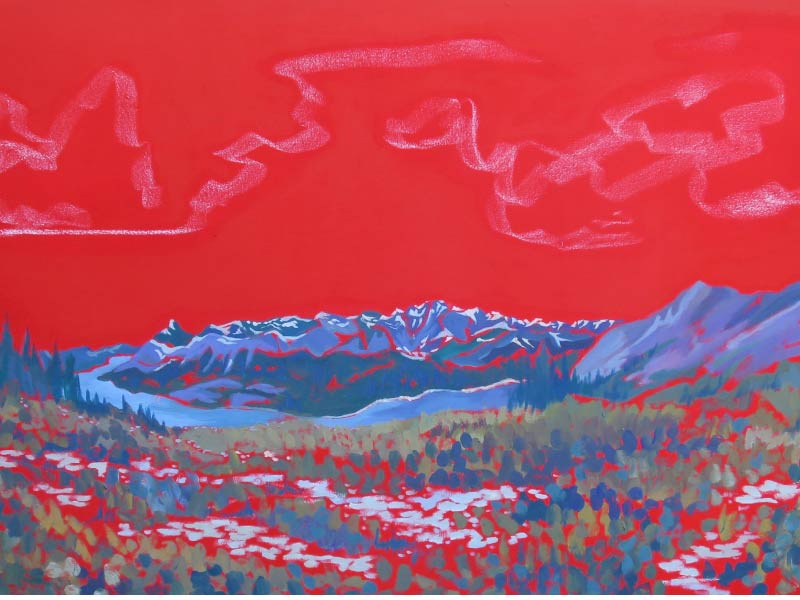 "An image of artwork by Lynnie Wonfor titled ""Half way to Windtower"""