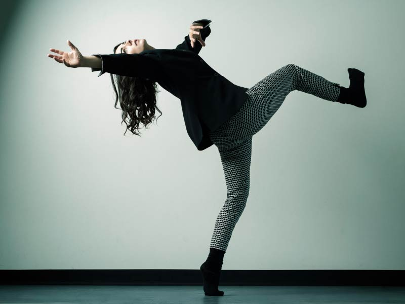 A photo of Meghann Michalsky mid dance