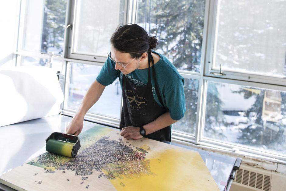 Photo of Printmaking Studio, Visual Arts Practicum