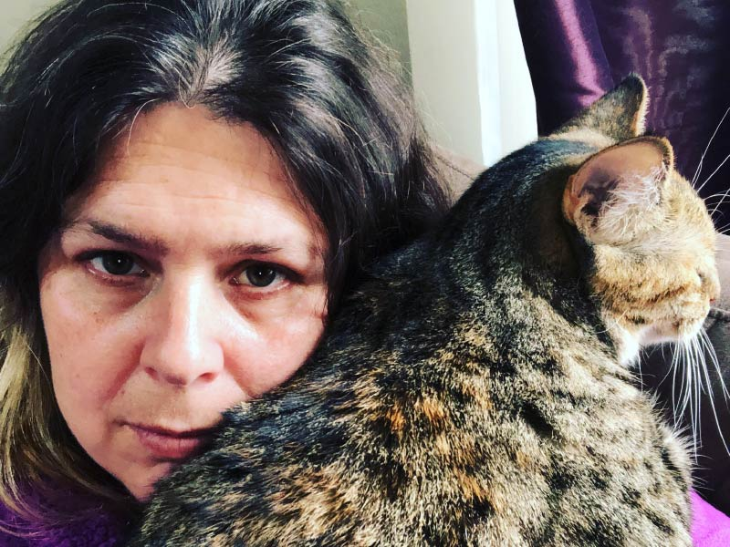 A photo of Robin van Eck with cat