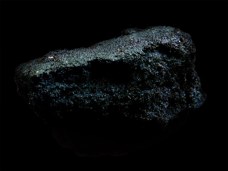 An image of sparkling bitumen from Tsēmā Igharas' Black Gold