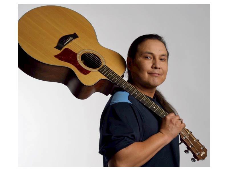Walter MacDonald White Bear with guitar