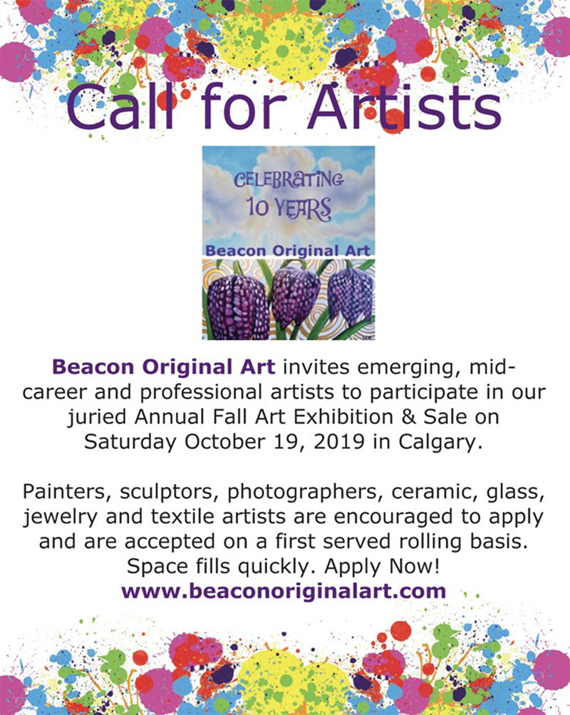 A poster for Beacon Original Art's call for artists