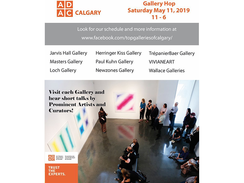 A graphic for the ADAC Calgary Gallery Hop