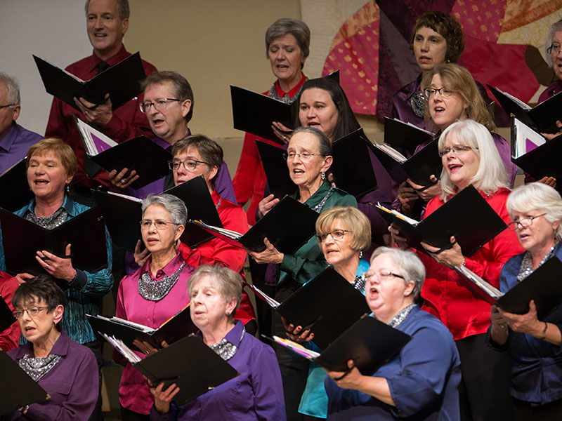 Members of the Calgary Multicultural Choir perform