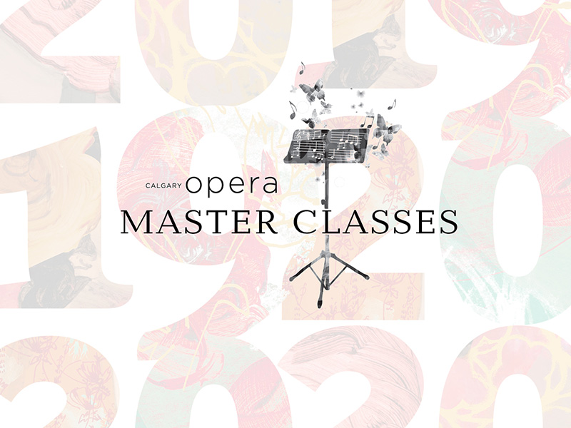 A graphic for Calgary Opera's Master Classes