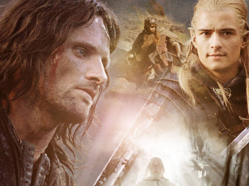 A collage of characters from The Lord of the Rings: The Two Towers