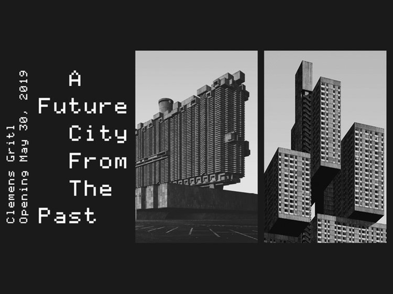 A graphic that says A Future City from The Past