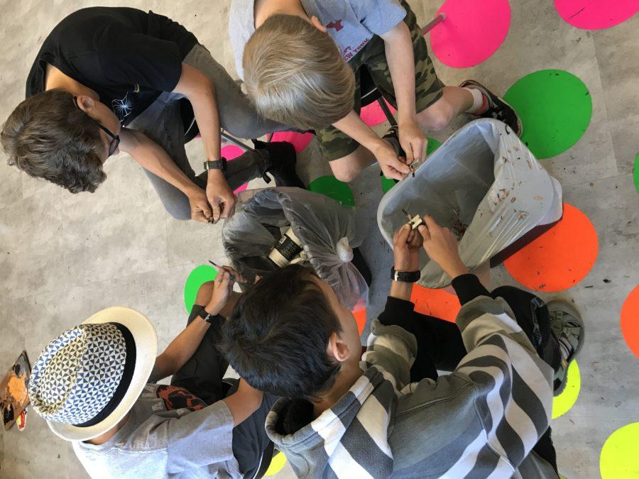 Photograph of kids at Summer Art Camp