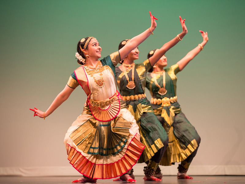 Dancers perform Indian classical dance during the annual Natyanjali Dance Festival of Canada