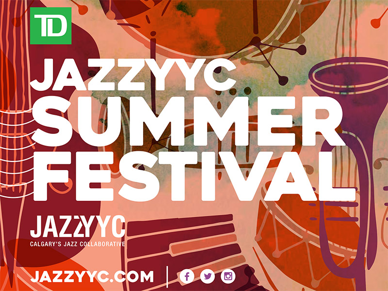 A graphic for the 2019 JazzYYC Summer Festival
