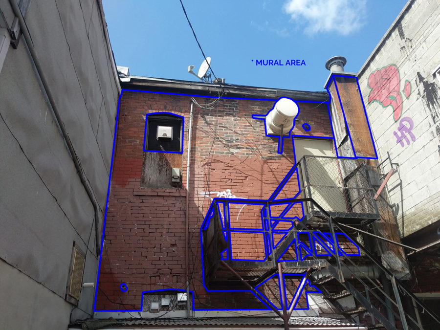 Photo of mural area – Community Mural