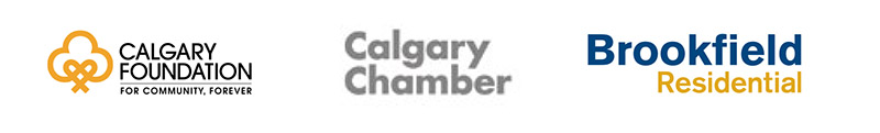 Logos for the Calgary Poet Laureate program parnters