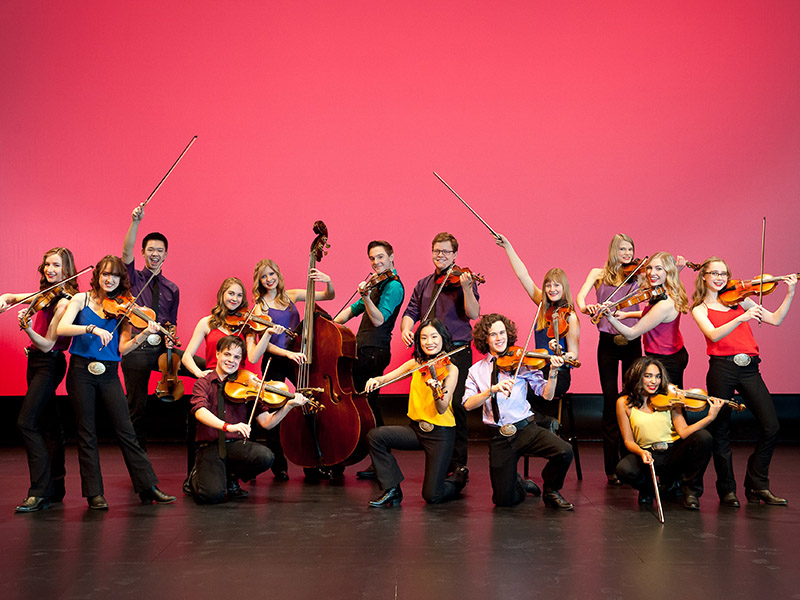 Members of the Calgary Fiddlers Association