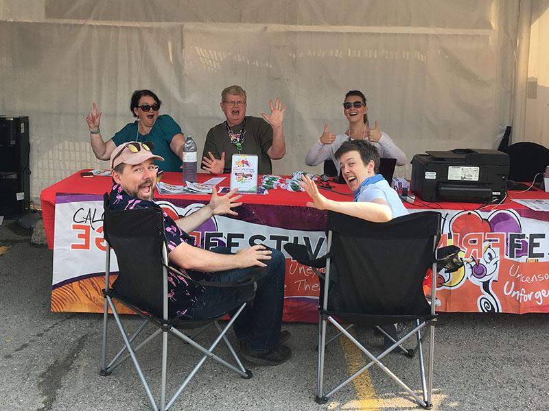 Calgary Fringe Festival volunteers and performers