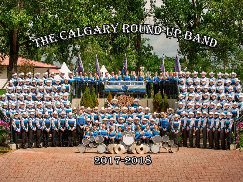 A photo of the Calgary Round-Up Band