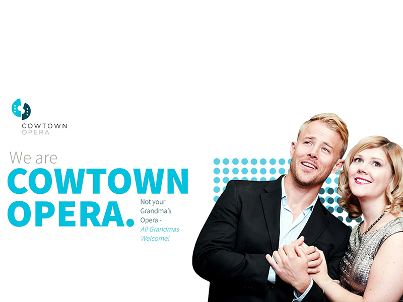 A graphic promoting the Cowtown Opera Company
