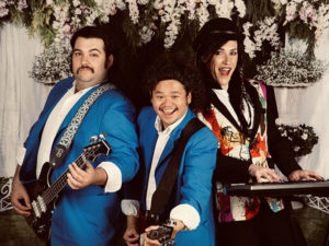 The band in Front Row Centre's production of The Wedding Singer