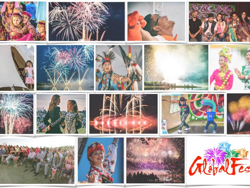 Collage of images from GlobalFest