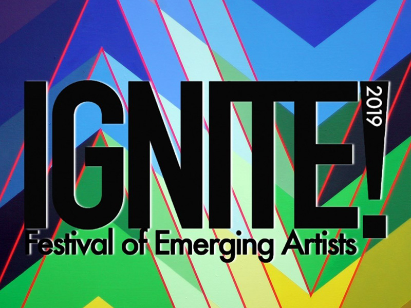 A graphic for the IGNITE! Festival of Emerging Artists