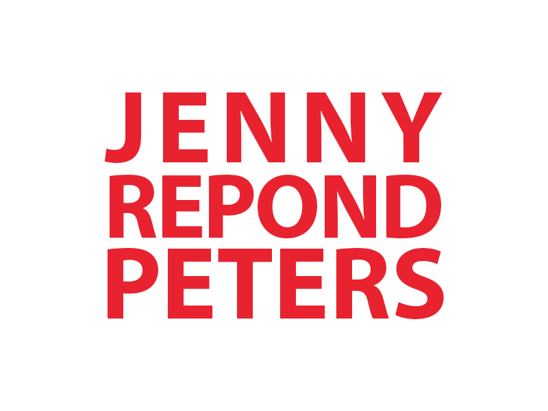 A graphic that says Jenny Repond Peters