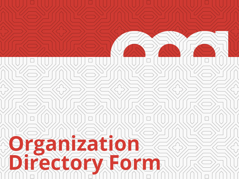 Organization Directory Form graphic