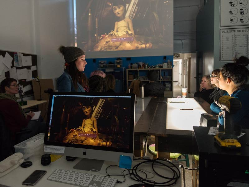 Workshop taking place at Quickdraw Animation Society
