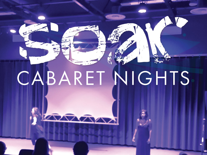 A graphic for Soar Cabaret Nights in Lethbridge