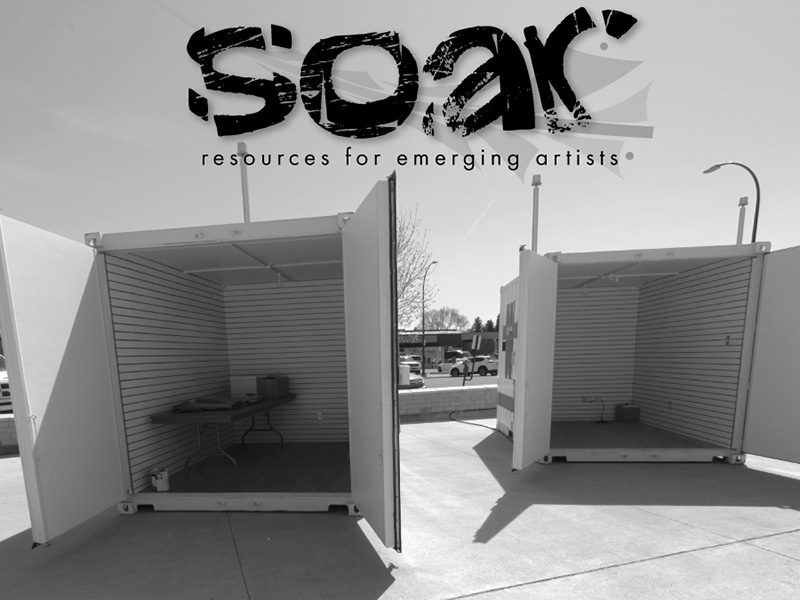 Seacans set up during Soar