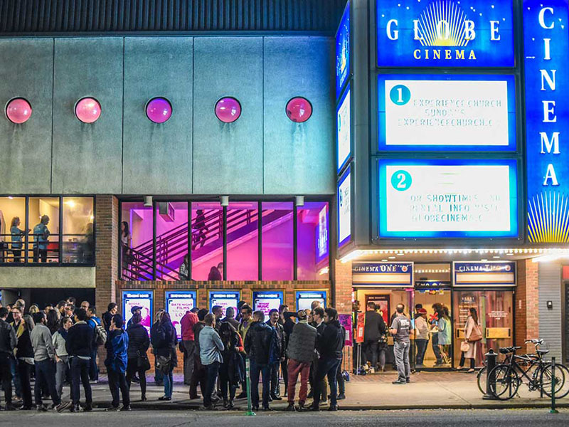 A lineup outside the Globe Cinema at the Calgary International Film Festival