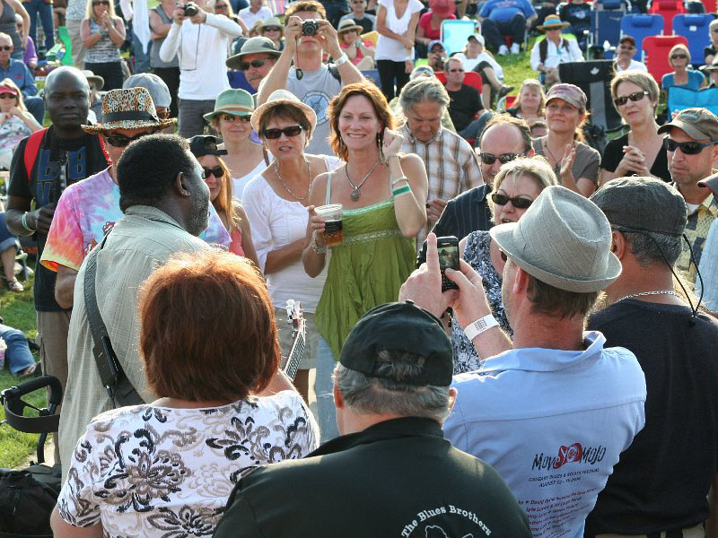 The crowd at the Calgary International Blues Festival